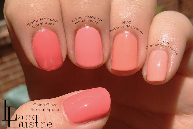 Sally Hansen Peach Beach comparison
