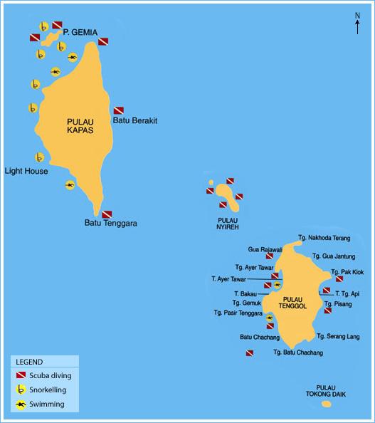 Pulau Kapas Malaysia  City new picture : Pulau Kapas & Pulau Tenggol Islands | Travel Map of Malaysia