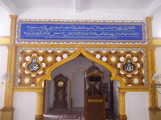 Proses pembuatan kaligrafi masjid pekanbaru
