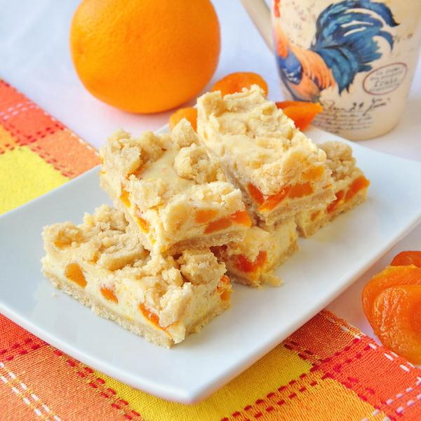 Apricot Orange Cheesecake Bars
