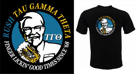 Tau Gamma Theta Rush Shirts Nor Cal Barbecue