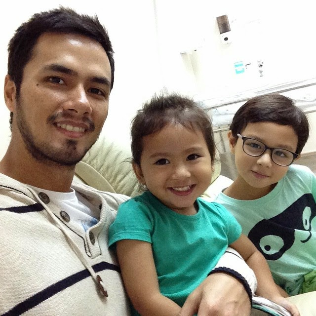 Oyo Sotto with kids Ondrea Bliss and Kristian Daniel