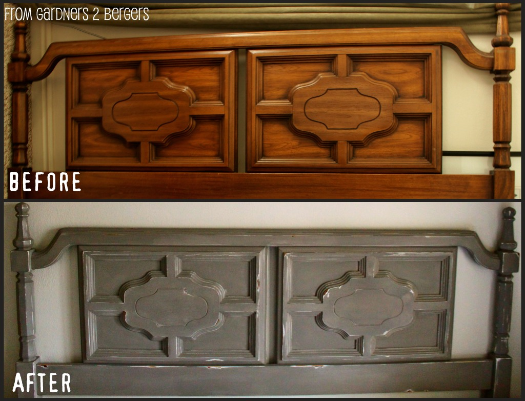 From gardners 2 bergers diy chalk paint tutorial for Painting a headboard