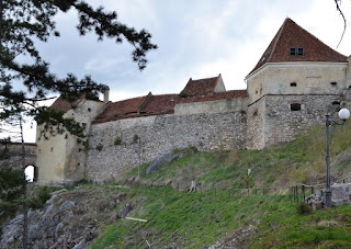 Northern wall of the citadel Rasnov Brasov, Transilvania