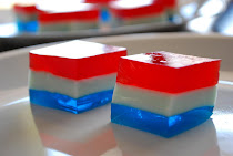 Red, White, & Blue Jello Squares