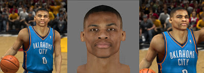 NBA 2K13 Russell Westbrook Cyber Face Mods