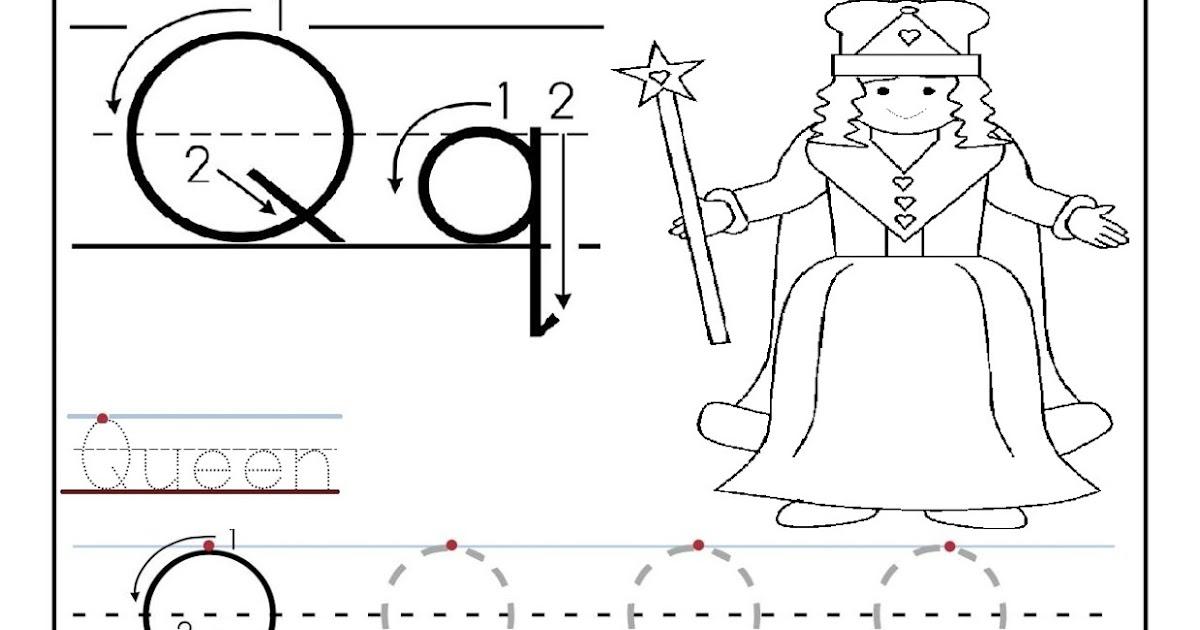 Free Letter Q Alphabet Learning Worksheet for Preschool