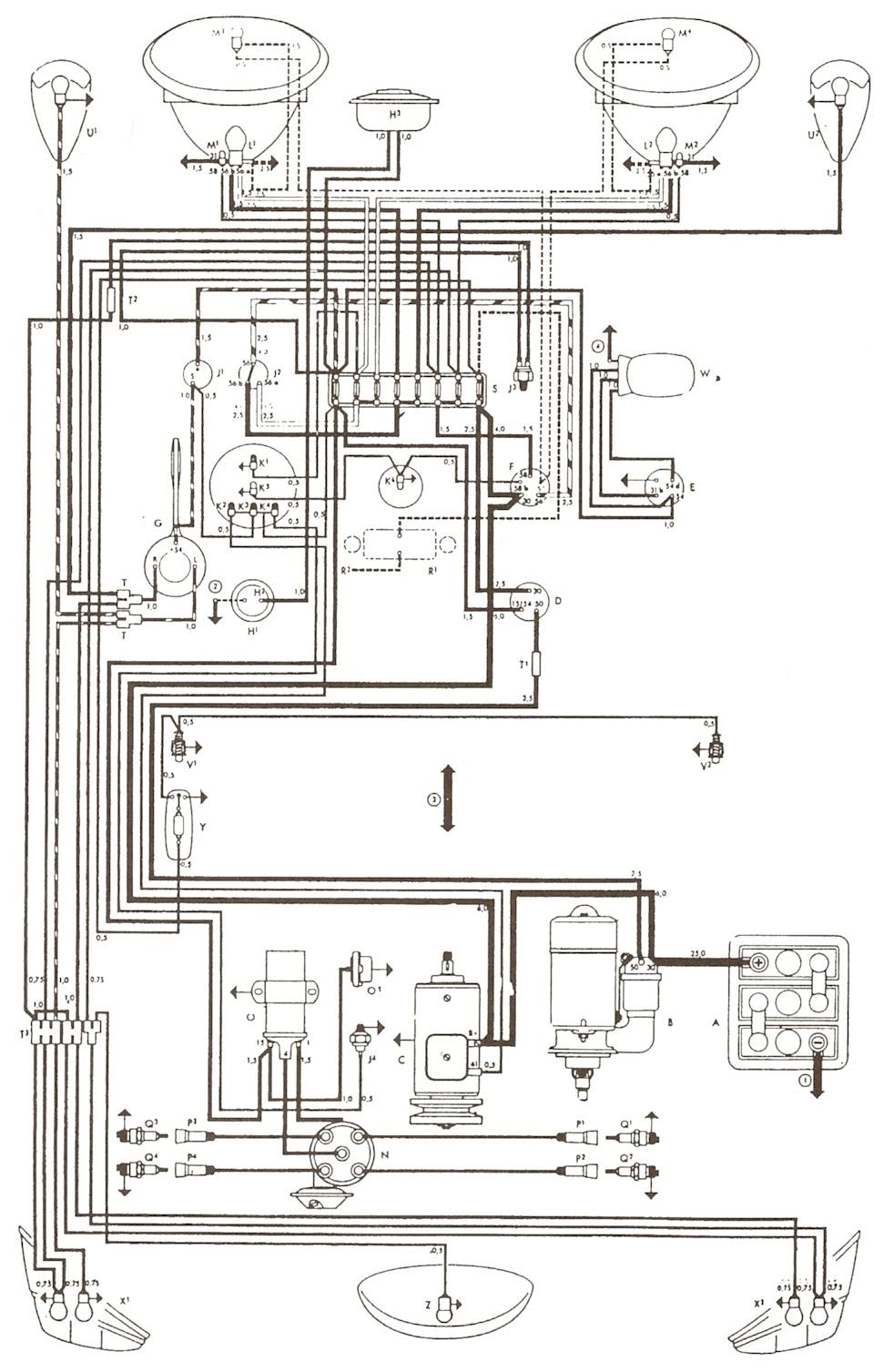wiring diagrams ignition switch for vw bug  wiring  get