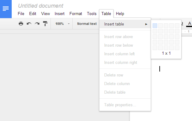 how to create side headers on google doc