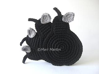 Crochet Coasters Black Pears