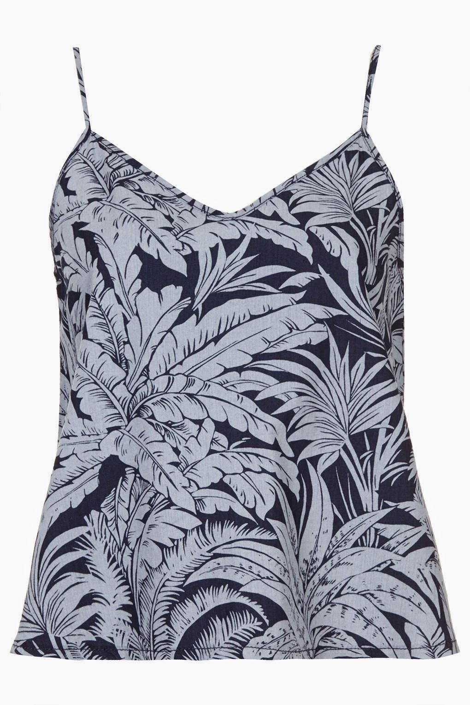 leaf print vest top