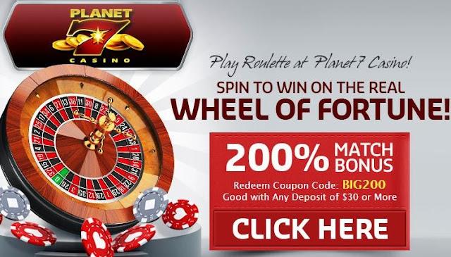 Planet7 Casino Roulette bonus No Rules