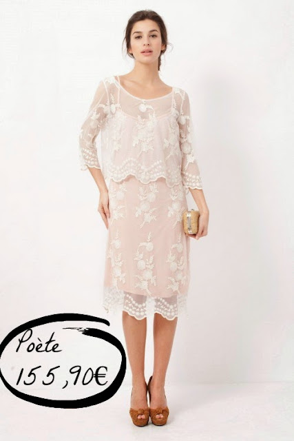 vestido boda civil original informal encaje blanco Poete romantico barato menos 200 euros low cost invitada evento