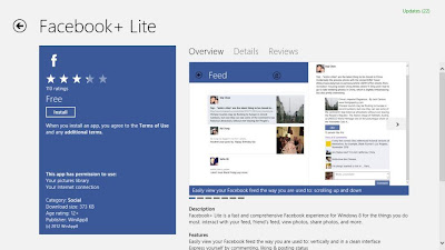Aplikasi Facebook Windows 8