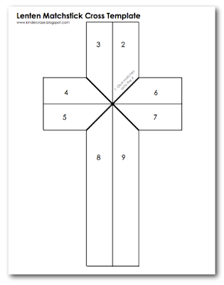 Free Template for Burnt Matchstick Cross