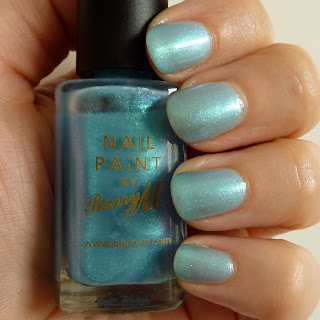 Barry M Nail Polish Swatch 0f 287 Aqua Blue