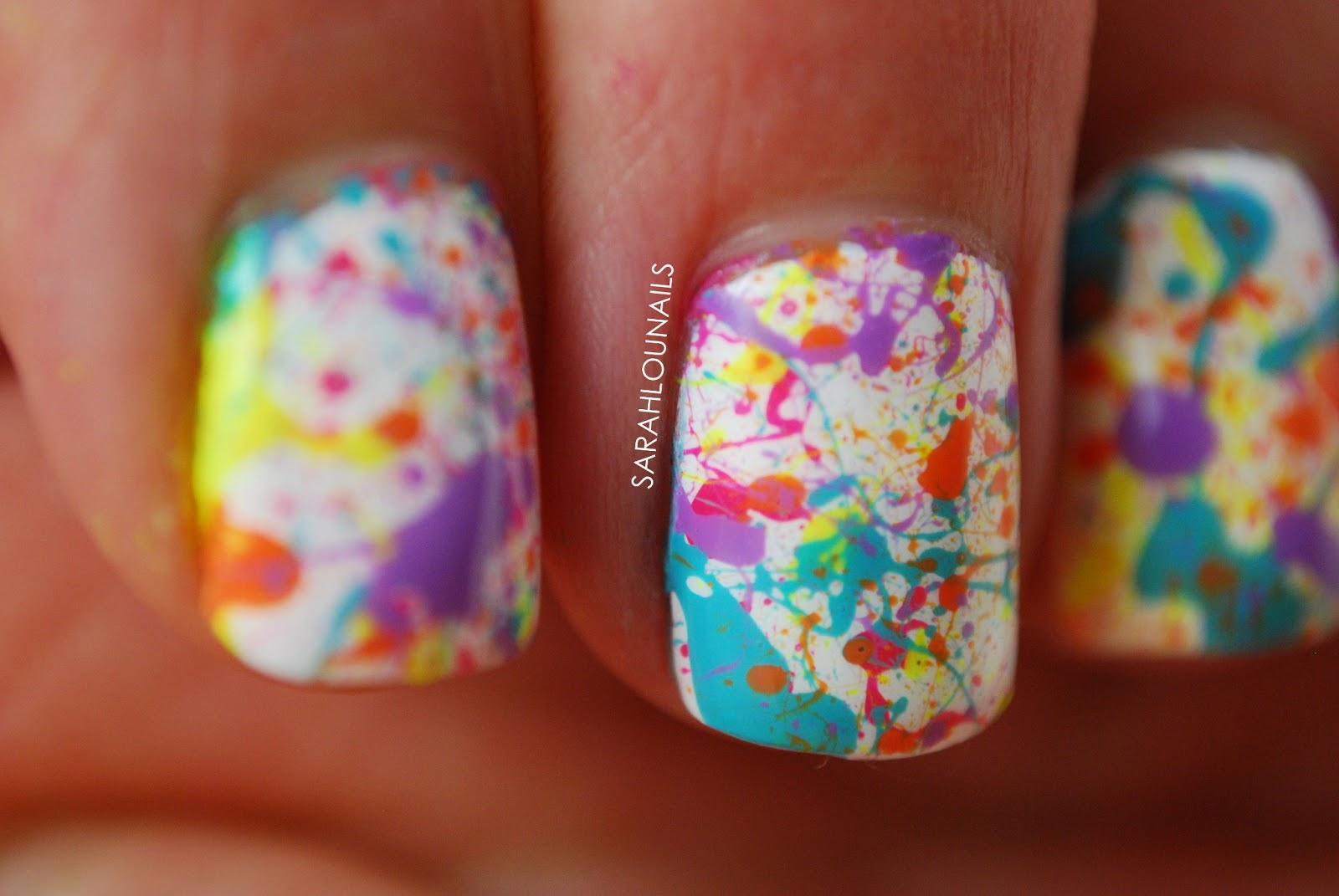 Paint Splatter Nail Art Choice Image Easy Nail Designs For