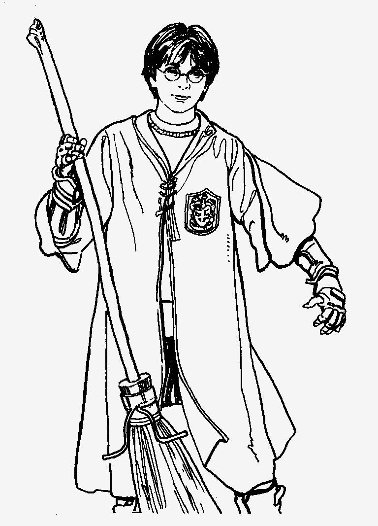 Harry Potter Ausmalbilder Harry Potter Zum Ausmalen