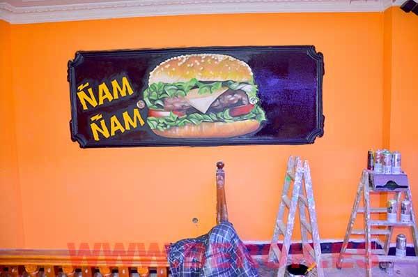 Graffiti hamburguesa realista