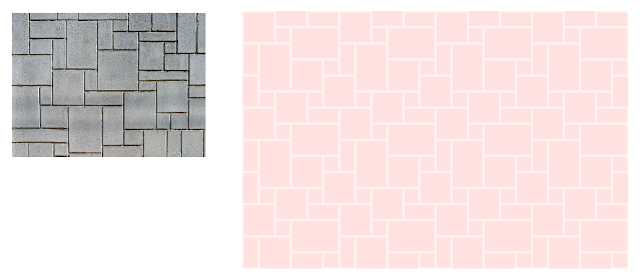 Kids girls stone castle wall paint pattern in pink with light pink morter