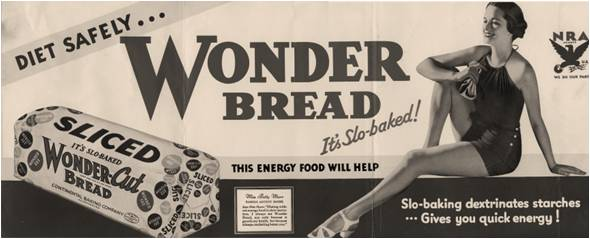 the Staff of Life to the Fluffy White Wonder  A Short History of BreadWonder Bread 1920