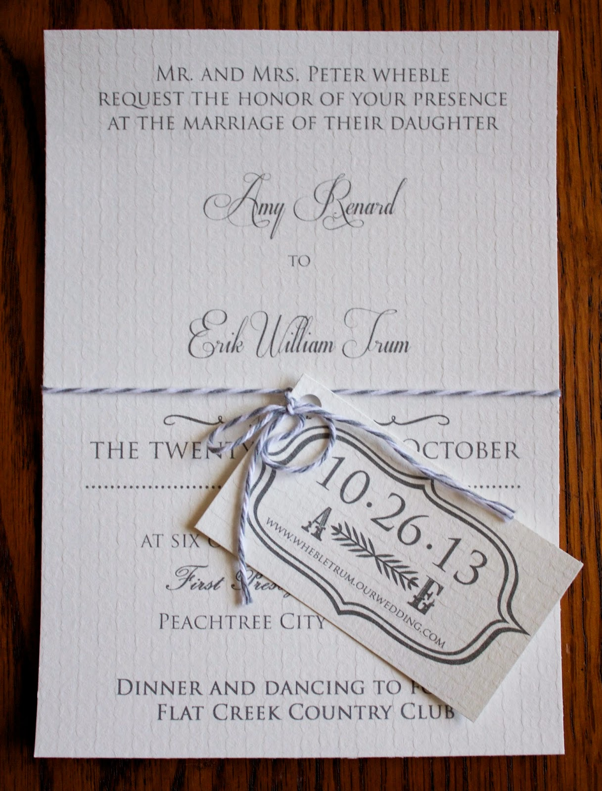 Handmade by Meg K: DIY Wedding Invites and Programs