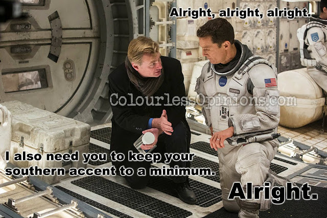 Interstellar behind the scene nolan mcconaughey meme alright alright alright.jpg