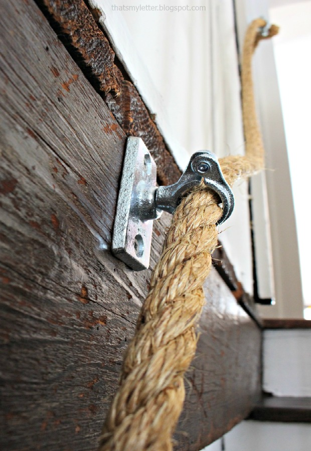 rope handrail with conduit hardware