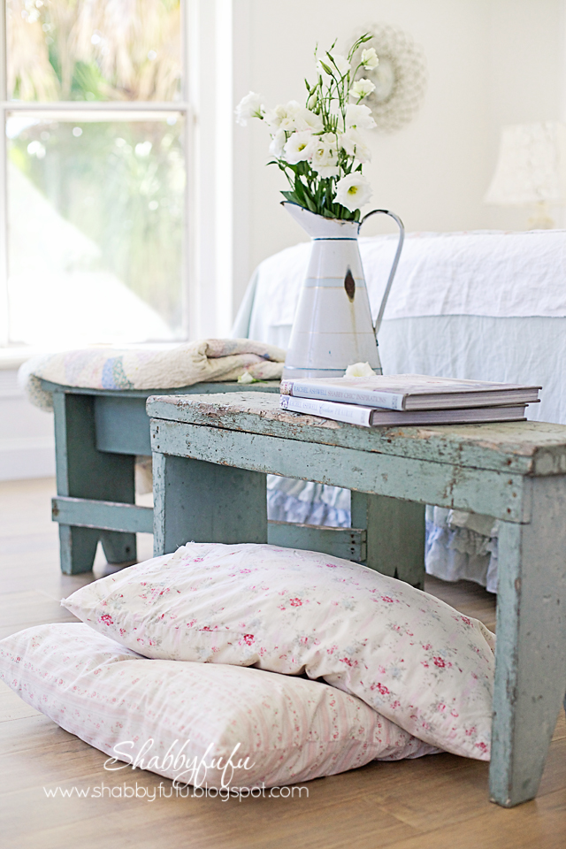 Benches In The Bedroom Shabby Chic Style Shabbyfufu