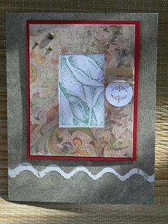 Cala lily sympathy card