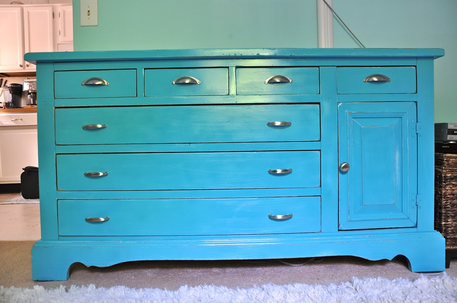 Valspar Turquoise Spray Paint Little Bit Funky Before During After