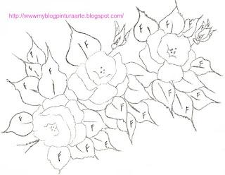 Rosas e botões de rosas