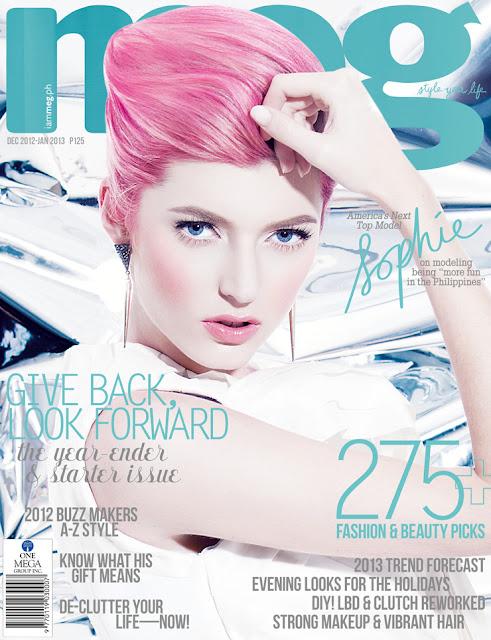 Sophie Sumner Covers Meg Magazine December 2012-January 2013 Issue
