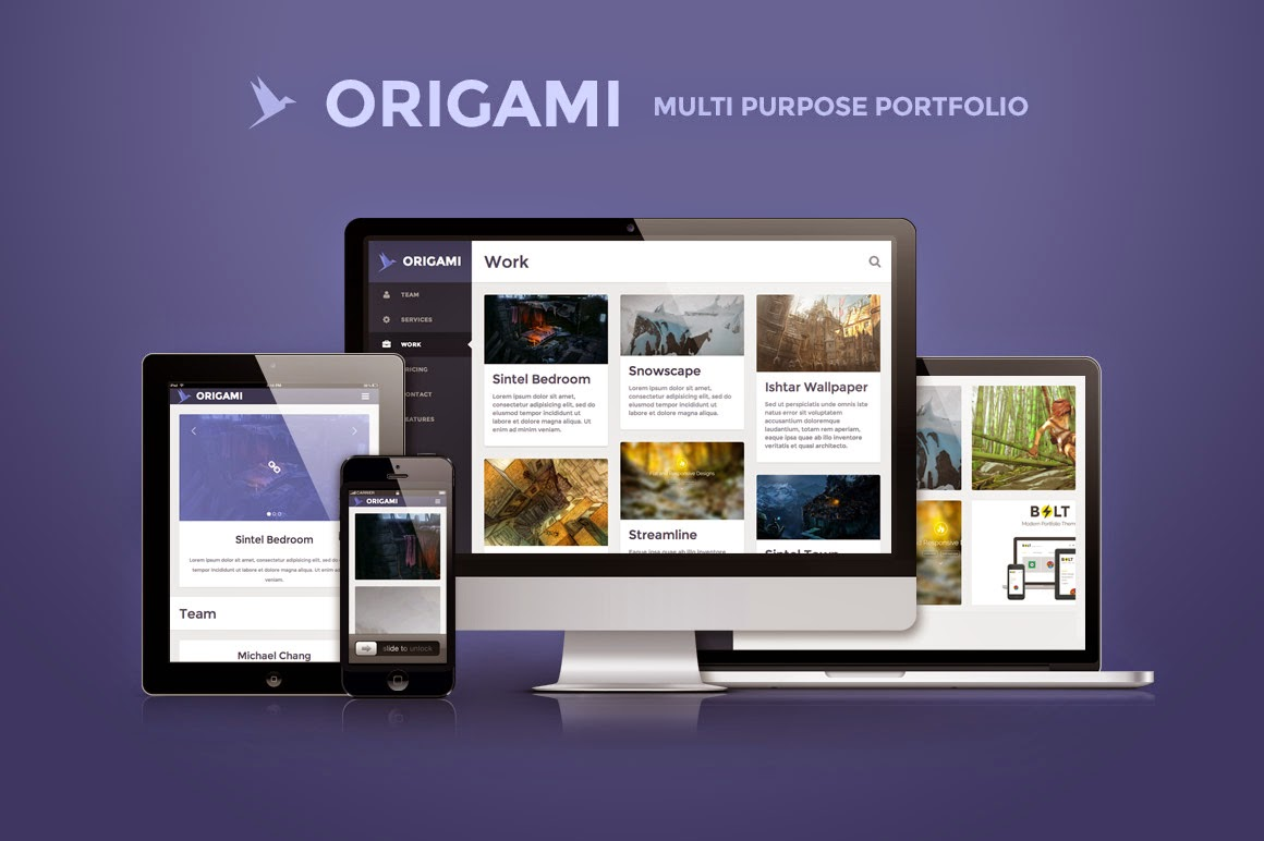 Origami - Creativemarket multipurpose template