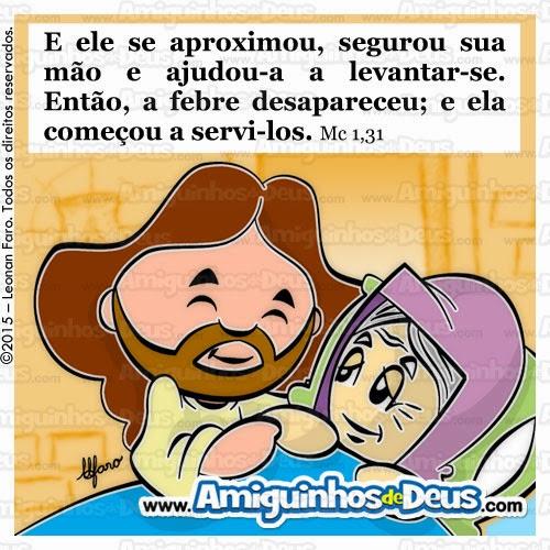 jesus cura a sogra de simão desenho