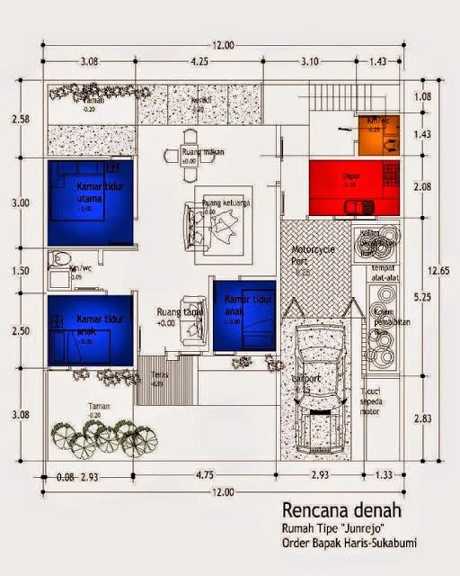 Sket Desain Rumah Minimalis Type 36 Modern Sderhana