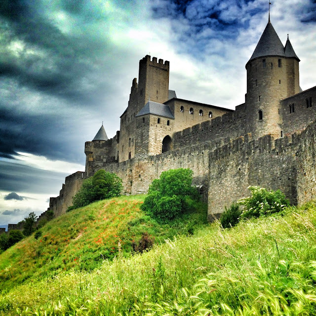The walled city of Carcassonne in the south of france