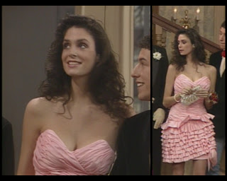 The Cosby Show Huxtable fashion blog Stacey Williams prom dress