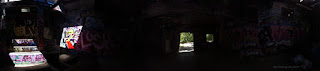 panorama of inside of nazi hideout generator building