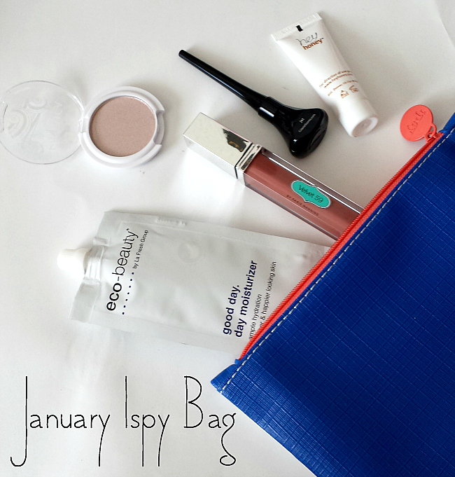 UNBOXING | January 2015 Ipsy Bag review, ipsy bag january 2015 review, velvet 59 gloss noisette swatches, pacifica beauty natural eyeshadow in ethereal swatches,hey honey take it off! Exfoliating Peel Off mask review eco beauty good day moisturizer review
