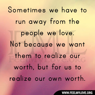 Sometimes we have to run away from the people