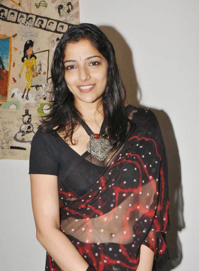 Nishanthi in black saree