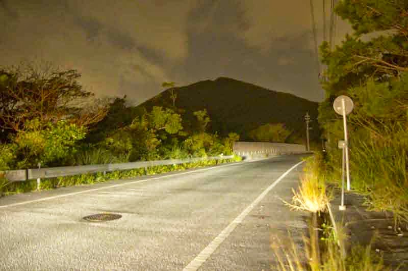 mountain, silhouette, HWY 71,Okinawa