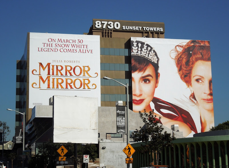 Giant Mirror Mirror billboard