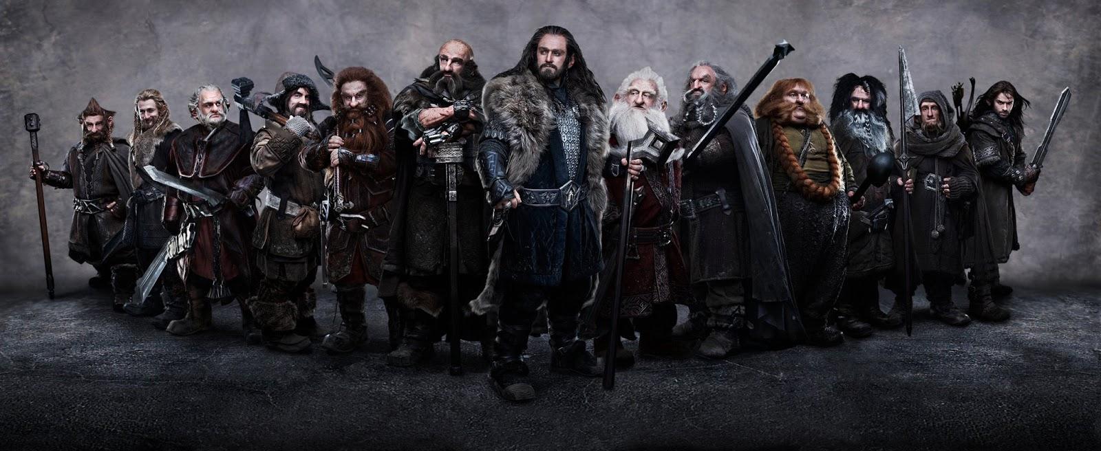30183bf6532ed4 Dertien moedige dwergen nemen de Hobbit Bilbo Baggins op sleeptouw.
