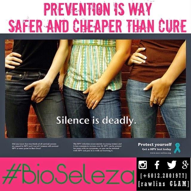 Bio Seleza, byrawlins, cancer, cervical cancer, feminine pad, glam, hanis haizi protege, kanser, Kanser Servik, murah, pap smear, sanitary pad, sihat, tuala wanita,