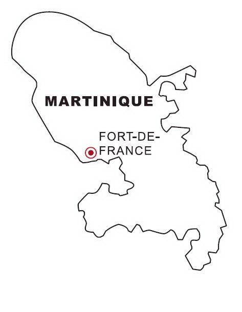 Laminas para colorear coloring pages mapa y bandera de - Coloriage martinique ...