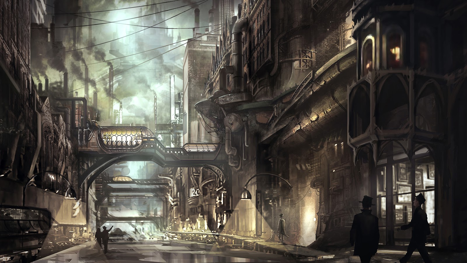 Gallery For gt Steampunk City Landscape