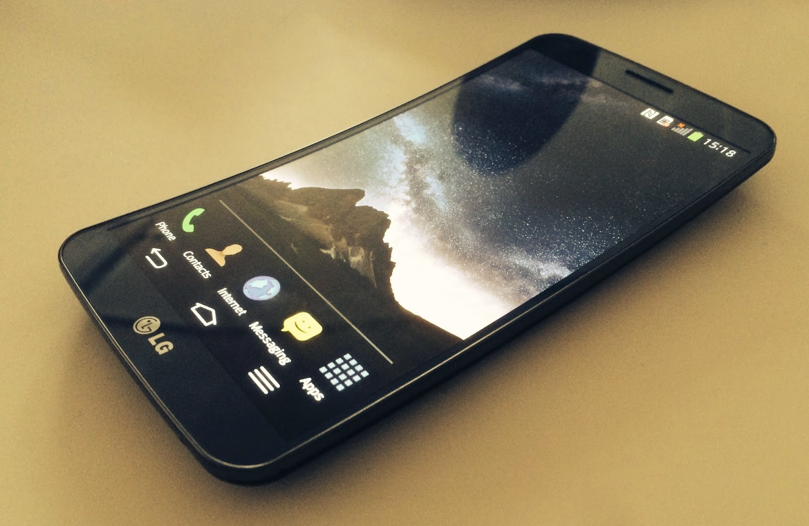 LG curved Smart phone