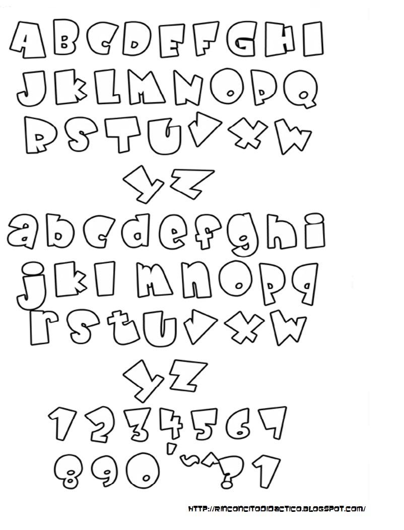 Rinconcito didactico letras para decorar trabajos - Letras de nombres para decorar ...
